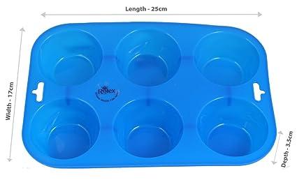 Rolex Silicon Mould Muffin Cupcake Tray 6 Cavity