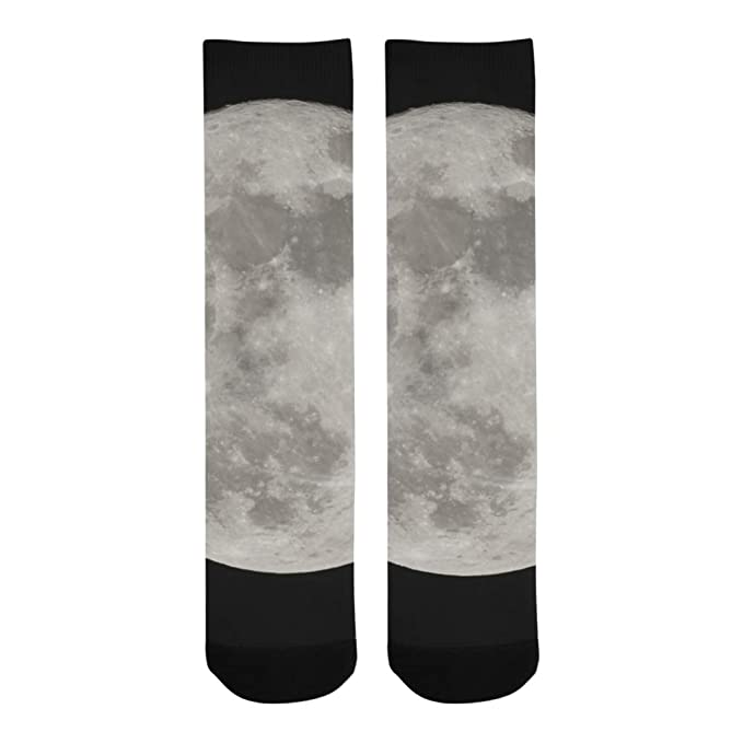 269ebfc72 Good Night Lovely Full Moon Sky Polyester Crazy Warm Crew Soccer  Compression Knee High Dress Troser