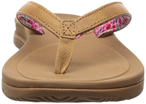 Freewaters Womens Grande Fille Sandale Flip Flop Beige / Marron