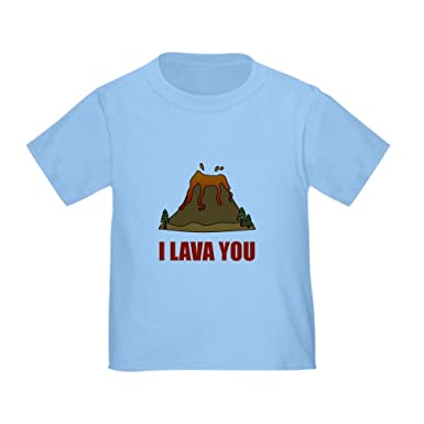 7ad6b5aa6 Amazon.com: CafePress I Lava You Volcano T-Shirt Toddler Tshirt ...