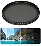 55mm Variable Neutral Density NDX Filter for Sony SAL-55200-2 55-200mm f/4-5.6 DT AF