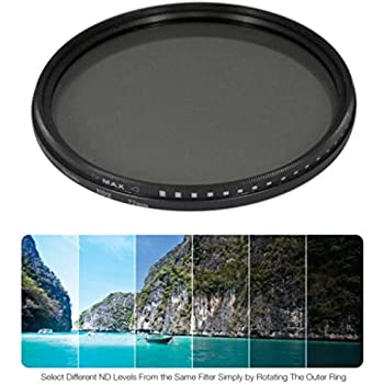 52mm Variable Neutral Density NDX Filter for Canon EF-M 18-55mm f//3.5-5.6 is STM,