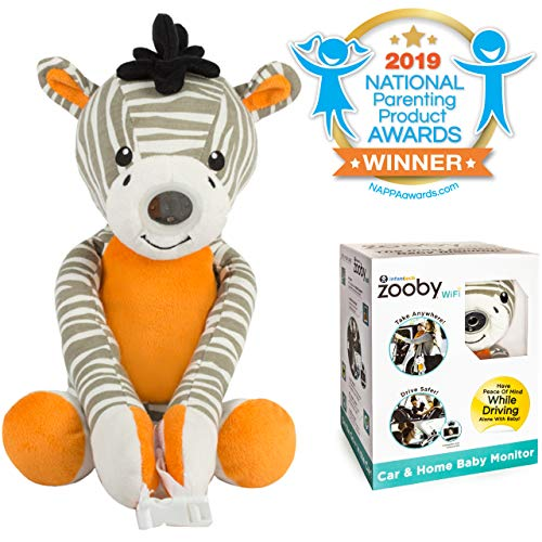 Zooby WiFi Direct Portable Video Baby Monitor - The Only Truly Mobile Baby Camera for Home, Car, Backyard, Mom Invented for Total Peace of Mind Because Baby is Always in View, Zebra