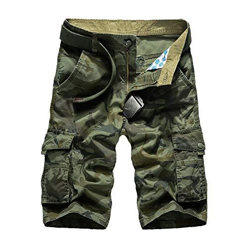 Bermuda Lannister Pantalone Estivi Grün Abbigliamento Militar Festivo Uomo Mimetici Cargo Pantaloncini Multitasche Da OxwCpU