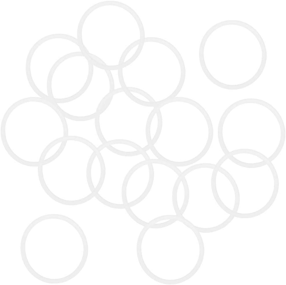 SOURCING MAP sourcingmap/® Anillo de sellado 26 mm x 30 mm x 2 mm aceite Gas grifo arandela Junta o de cierre claro blanco 16 Piezas