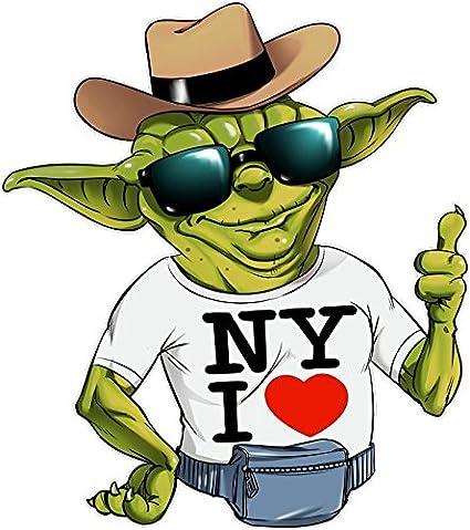 Ref:908 Parodia Star Wars Parodia di Yoda di Star Wars Felpa Bambino e Ragazzo Nera Star Wars umoristico con New York I Love