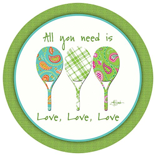 (Thirstystone Stoneware Coaster Set, All You Need Is Love)