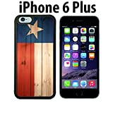 wood iphone 6 case made in usa - Texas Flag on Wood Custom made Case/Cover/skin FOR iPhone 6 Plus - Black - Rubber Case ( Ship From CA)