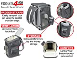 Products4Now Dog Carrier Bag - Airline Approved Soft Sided Travel Bag with Mesh Windows, Sturdy Bottom and Soft Wool Fleece Cushion. For Dogs, Cats and Small Pets. Fits Under Airplane Seat.