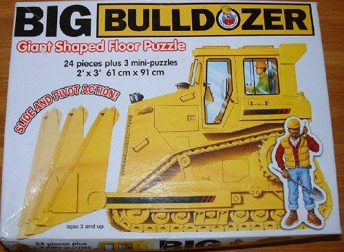 Big Bulldozer Giant Shaped Floor Puzzle 2'X3'