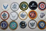 Geocaching Coins Swag Bottle Caps - Military Tribute Collection