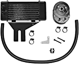 Jagg Oil Coolers Horizontal 10 Row Oil Cooler - Low Mount - Black 750-2500