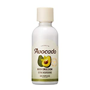 SKIN FOOD Premium Avocado Rich Emulsion 160ml - Containing Avocado Extract, Avocado Oil Moisture Rich Facial Emulsion, Skin Nourishing & Brightneing with Vitamins and Minerals