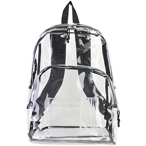Eastsport Clear Backpack, Black Trim