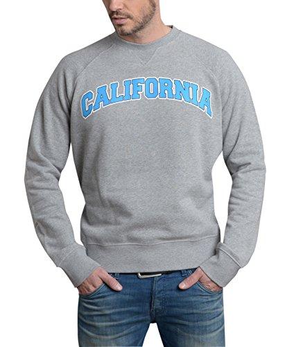 Grigia American Cappuccio carattere Uomo Da Style Felpa Senza Brand Chiccheria Blu California ZqRSTIxUw