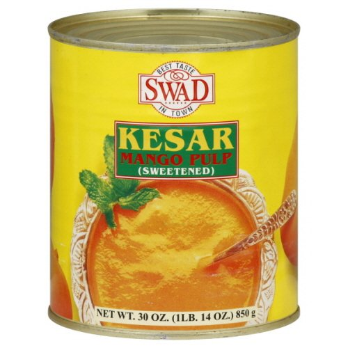 Swad Kesar Mango Pulp, 30-Ounce (Pack of 6)