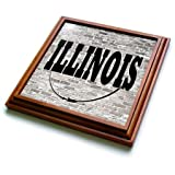 3dRose trv_268692_1 Illinois State Capital Is Springfield Trivet with Tile, 8 by 8''