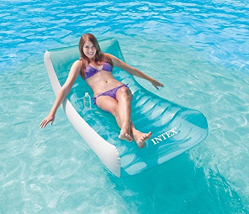 """Intex Pool Floats Rockin Inflatable Lounge Air Mattresses 74""""x39"""" Beds Swimming"""