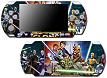 Star Wars Clone Wars Jedi Obi Wan Yoda Luke Video Game Vinyl Decal Skin Sticker Cover for Sony PSP Playstation Portable Slim 3000 Series System by Vinyl Skin Designs