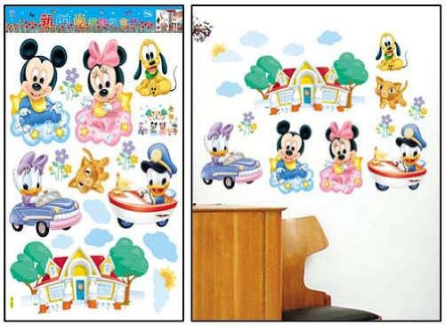 wandtattoo baby mickey mouse reuniecollegenoetsele. Black Bedroom Furniture Sets. Home Design Ideas