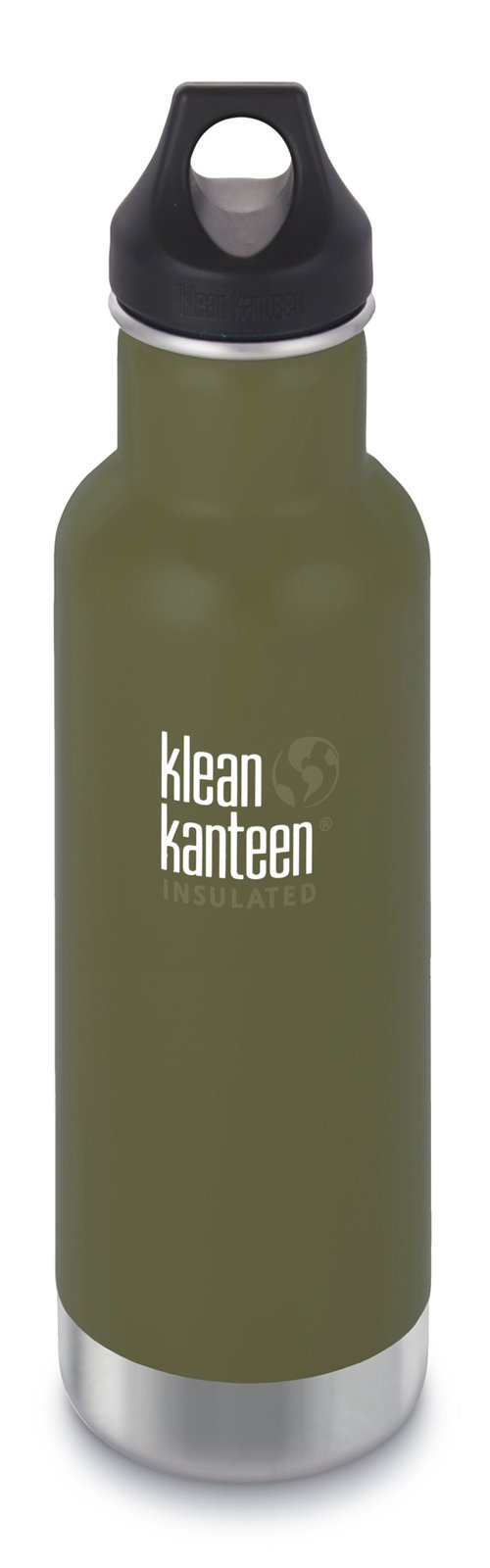 Klean Kanteen Fresh Pine Classic Vacuum Insulated Storage with Loop Cap, 20-Ounce