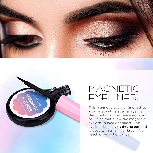 Essy Magnetic Eyeliner and Lashes Kit, Magnetic Eyeliner for Magnetic Lashes Set, With Reusable Lashes [3 Pairs]