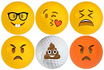 Emoji Golf Balls 6 pack #3