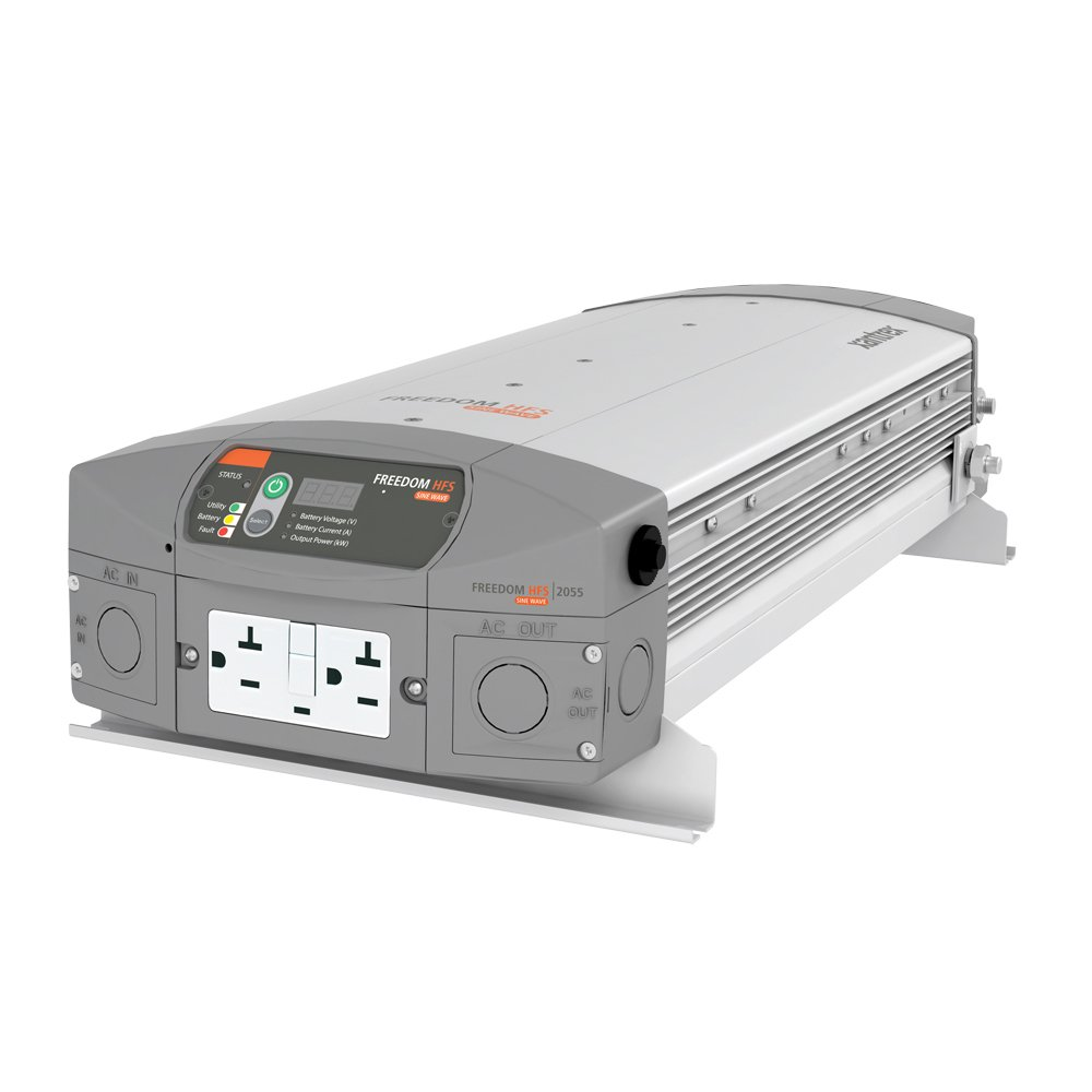 Xantrex 807-2055 Freedom HFS 2055 Inverter/Charger; 2000 watts continuous AC power; Powerful fast charging 55 amp, 12 Vdc multi-stage charger; 2X continuous power surge for demanding loads by Xantrex