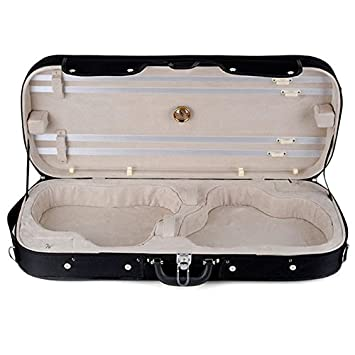 Muzip tamaño completo 4/4 Doble Funda para violín carcasa ...
