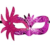 BEUU 2019 Carnival Mask Venetian Masquerade Masks Mardi Gras Party Costume Festival Party Hot Pink