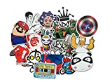 Baybuy Random Sticker 50-500pcs Variety Vinyl Car Sticker Motorcycle Bicycle Luggage Decal Graffiti Patches Skateboard Stickers for Laptop Stickers (50pcs)