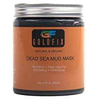 GOLDFIX Dead Sea Beautifying Clay Fiber Mask For Acne, Oily Skin & Blackheads - Best Clay Facial Mask Treatment for Pore Minimizer & Cleansing, Smooth Skin Guarantees, SPA Effect 250 ml