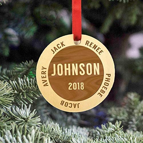 Personalized Family Christmas Ornament 2018 Family Of 4 Christmas Ornament Personalized Christmas Ornaments 2018