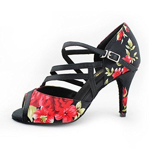 Fondo Baile De WYMNAME Sandalia Salón Zapatos Clásica Zapatos Baile Latino Negro Blando Internacional De Estándar Mujeres De ztwAHnqxYw