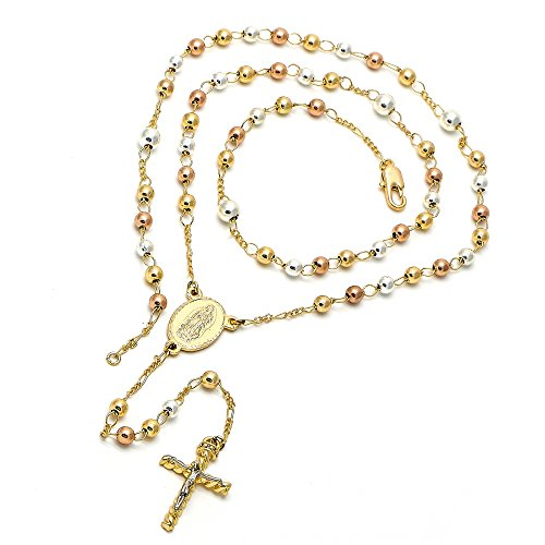 Buy tri color gold rosary