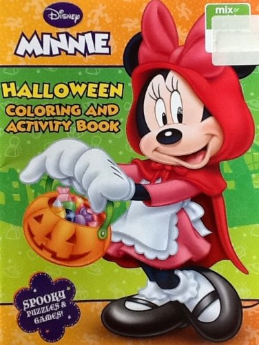 Disney Minnie Halloween Coloring & Activity Book: 32 Pages!!! Spooky Puzzles & (Halloween Counting Pages)