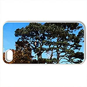 Autumn.Buse castle mound. - Case Cover for iPhone 4 and 4s (Watercolor style, White)