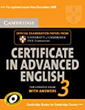 Cambridge Certificate in Advanced English 3 for Updated Exam Self-study Pack (Student's Book with answers and Audio CDs (2)): Examination Papers from ... ESOL Examinations (CAE Practice Tests)