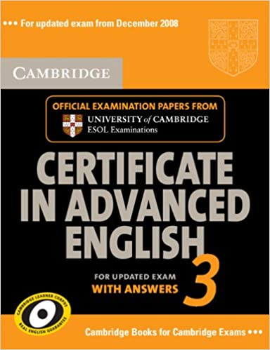 Cambridge Certificate In Advanced English Book