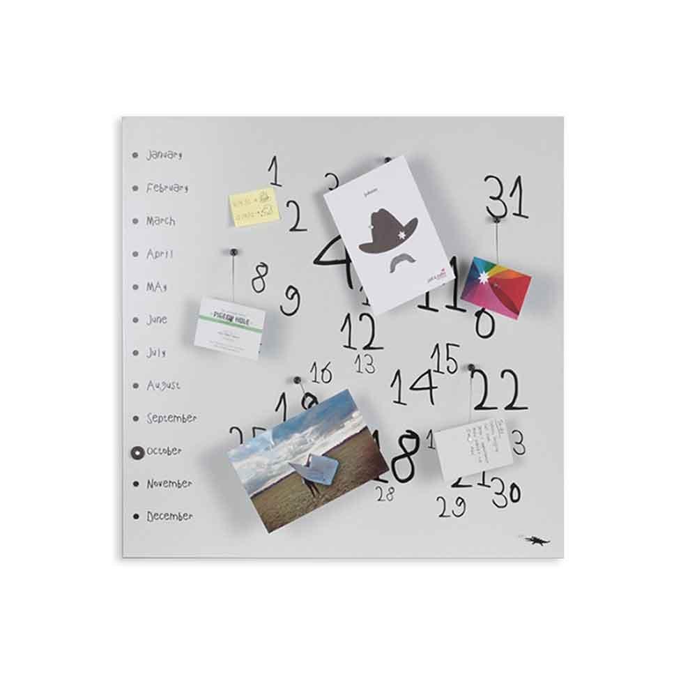 dESIGNoBJECT Calendario organizer decorativo da muro Krok1 bianco 50x50
