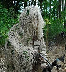 GhillieSuits Synthetic Ultra-Light Ghillie Bow Hunting Jacket Right Hand Desert 3XL