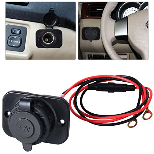 - WINOMO Cigarette Lighter Socket Power Supply Outlet Adapter Plug for Marine Truck Rv