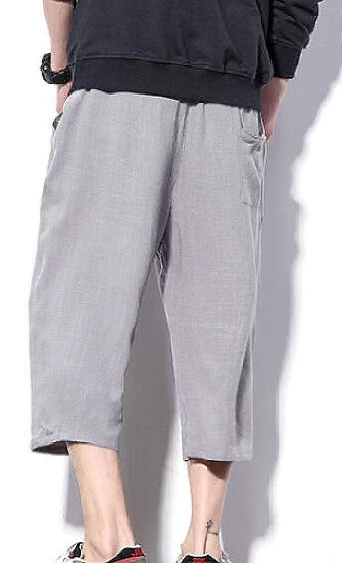 M/&S/&W Mens Drawstring Waist Shorts Harem Capri Yoga Pants