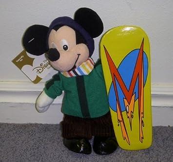 Disney Snowboarder Hit les pentes snowboard Mickey 8 - Poupée et Mini-Poupée-Peluche-Bean Bag
