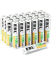 EBL AAA Rechargeable Batteries(28-Counts) Pre-Charged High Capacity 1.2V 1100mAh Ni-MH Rechargeable Battery(Battery Case Included)