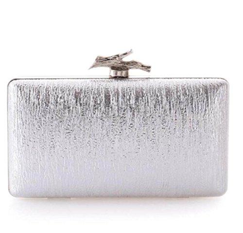 Bolsos Bolsos De Pu Ban Europa Y Los Estados Unidos Moda Paquetes De Cena Bolsos Bolsos Silver
