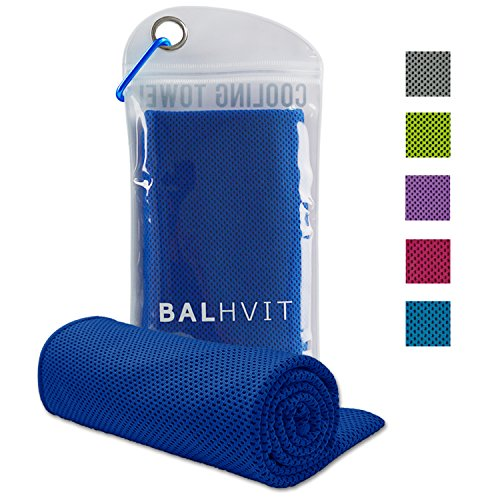 Balhvit Cooling Towel, Cool Towel for Instant Cooling Relief, Chilling Neck Wrap, Ice Cold Scarf For Men & Women, 40x12'', Microfiber Bandana - Evaporative Chilly Towel For Yoga Golf Travel Beach