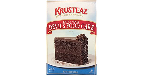 Amazon.com : Krusteaz Extra Moist DEVILS FOOD Cake Mix 72oz. (4-pack) : Grocery & Gourmet Food