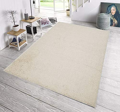 - SavaHome 1063-CREAM Solid Light Cream Shag Area Rug (5' x 7') Contemporary Livingroom and Bedroom Soft Shaggy Solid Color Area Rug