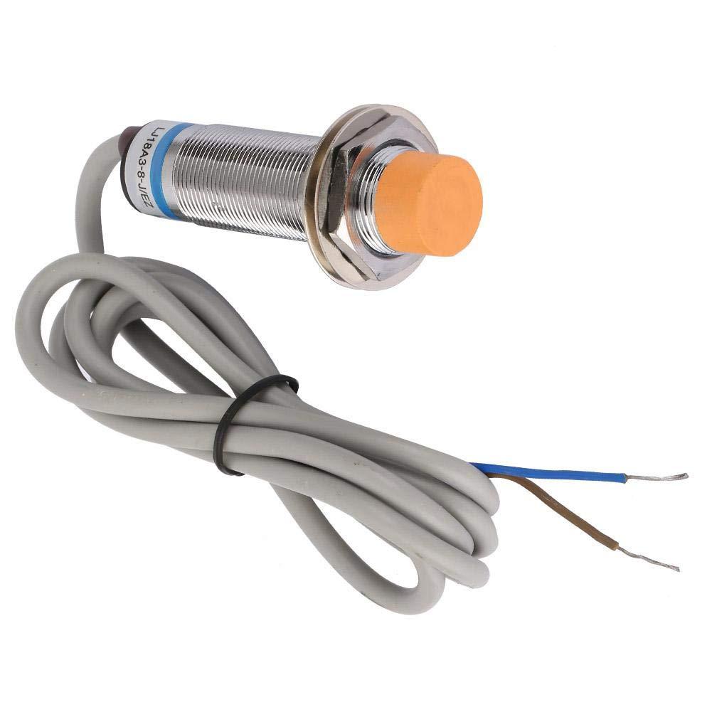 lat/ón niquelado LJ18A3-8-J//EZ NO AC Sensor de proximidad inductivo Detecci/ón del interruptor de 8 mm Interruptor de proximidad